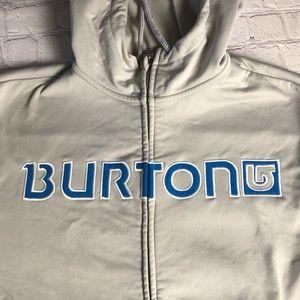Burton fleece lined zip up hoodie size small